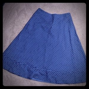 Beautiful blue skirt sz 6 Banana Republic career